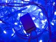 LED Айсикл Лайт Светодиодная бахрома нити по 0,2/0,3/0,4/0,6 м., с контроллером, синий