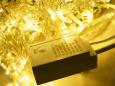 LED Айсикл Лайт Светодиодная бахрома с нитями 0,2/0,3/0,4/0,6 м. с контроллером, теплый белый