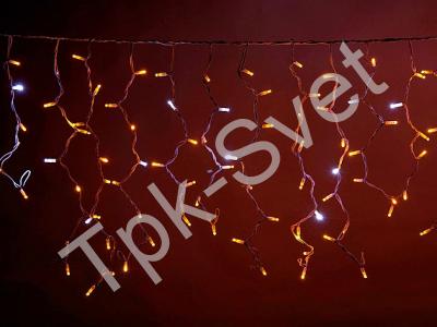 LED Айсикл Лайт Светодиодная бахрома Flash с эффектом мерцания, с нитями 0,6/0,8/0,9 м., без контроллера, желтый