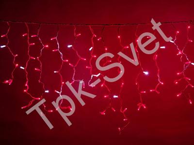 LED Айсикл Лайт Светодиодная бахрома Flash с эффектом мерцания, с нитями 0,6/0,8/0,9 м., без контроллера, красный