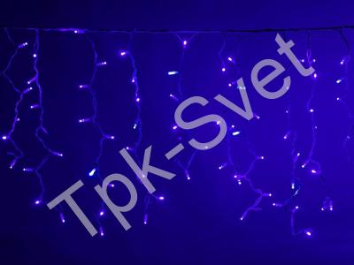 LED Айсикл Лайт Светодиодная бахрома Flash с эффектом мерцания, с нитями 0,6/0,8/0,9 м., без контроллера, синий
