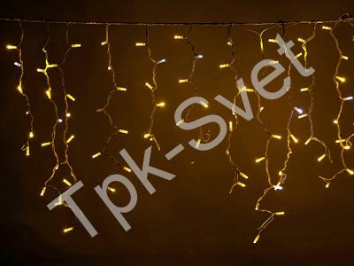 LED Айсикл Лайт Светодиодная бахрома Flash с эффектом мерцания, с нитями 0,6/0,8/0,9 м., без контроллера, теплый белый