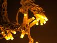 LED Айсикл Лайт Светодиодная бахрома нити по 0,6/0,8/0,9 м., без контроллера, желтый