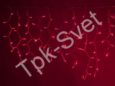 LED Айсикл Лайт Светодиодная бахрома нити по 0,6/0,8/0,9 м., без контроллера, красный