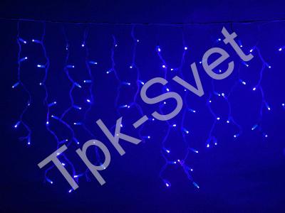 LED Айсикл Лайт Светодиодная бахрома нити по 0,6/0,8/0,9 м., без контроллера, синий