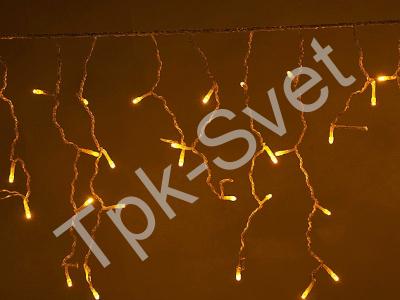 LED Айсикл Лайт Светодиодная бахрома с нитями 0,2/0,3/0,4/0,6 м. с контроллером, желтый