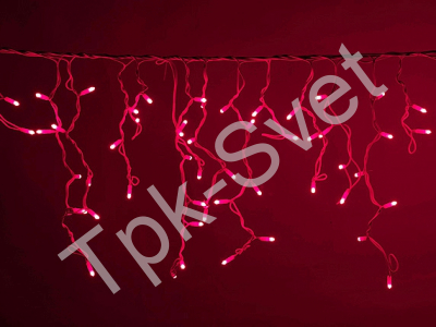 LED Айсикл Лайт Светодиодная бахрома нити по 0,2/0,3/0,4/0,6 м., с контроллером, красный