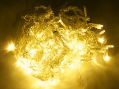 LED Айсикл Лайт Светодиодная бахрома нити по 0,2/0,3/0,4/0,6 м., с контроллером, теплый белый