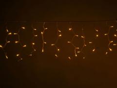 LED Айсикл Лайт Светодиодная бахрома , с нитями 0,4/0,5/0,6 м., без контроллера, желтый