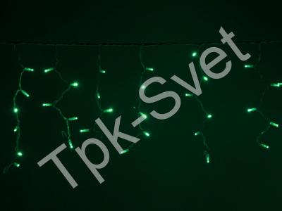 LED Айсикл Лайт Светодиодная бахрома , с нитями 0,4/0,5/0,6 м., без контроллера, зеленый