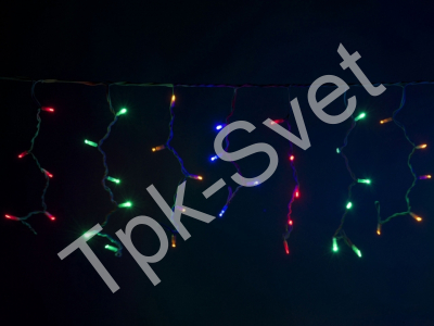 LED Айсикл Лайт Светодиодная бахрома , с нитями 0,4/0,5/0,6 м., без контроллера, мульти