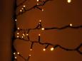 LED Плей-лайт Световой дождь без контроллера, 2х6 м, желтый