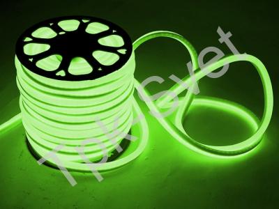 LED Неон-Флекс 13х15х27 мм, 2 жилы, зеленый