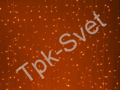 LED Плей-лайт Световой дождь без контроллера, 2х1,5 м, усилен. влаго-мороз защита, красный