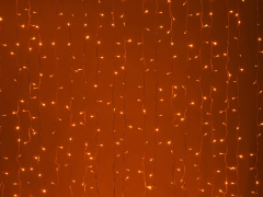 LED Плей-лайт Световой дождь без контроллера, 2х1,5 м, красный