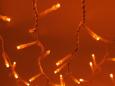 LED Плей-лайт Световой дождь с контроллером (динамика), 2х3 м, красный