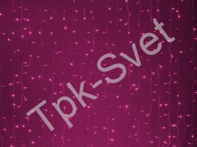 LED Плей-лайт Световой дождь без контроллера, 2х1,5 м, розовый