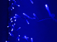 LED Плей-лайт Световой дождь без контроллера, 2х1,5 м, усилен. влаго-мороз защита, синий