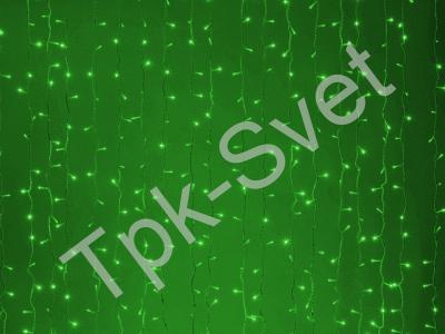 LED Плей-лайт Световой дождь без контроллера, 2х6 м, зеленый