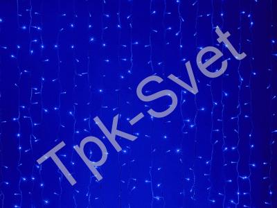 LED Плей-лайт Световой дождь без контроллера, 2х6 м, синий