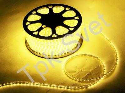 Светодиодный SMD дюралайт 3528, IP65, 0,6х0,8 мм, теплый белый