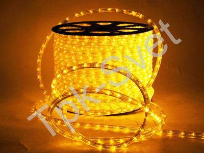 Дюралайт круглый со светодиодами D-13мм, желтый, 2 жил.