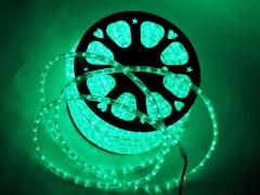 Дюралайт круглый со светодиодами D-13мм, зеленый, 2 жил.