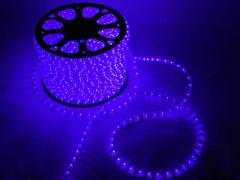 Дюралайт круглый со светодиодами D-13мм, синий, 3 жил.