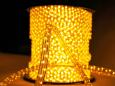 Дюралайт плоский со светодиодами 3 жил. 11х13 мм, желтый