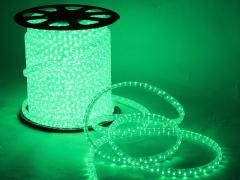 Дюралайт плоский со светодиодами 3 жил. 11х13 мм, зеленый