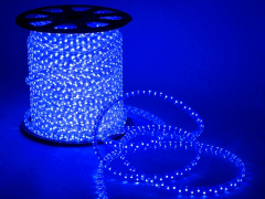 Дюралайт плоский со светодиодами 3 жил. 11х13 мм, синий
