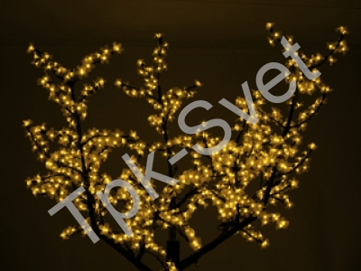 "Светодиодное дерево ""Сакура"", размер 2.5*2 метра, желтый"