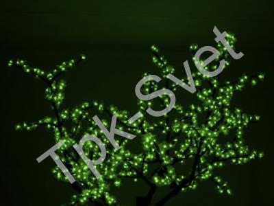 "Светодиодное дерево ""Сакура"", размер 2.5*2 метра, зеленый"