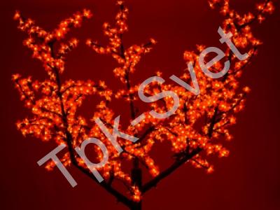 """Светодиодное дерево """"Сакура"""", размер 2.5*2 метра, красный"""