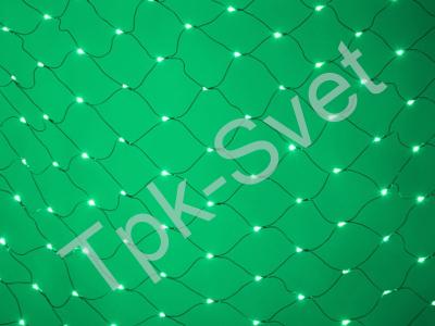 LED Нет-лайт Светодиодная сеть с контроллером, 2х1 м, зеленый