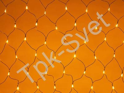 LED Нет-лайт Светодиодная сеть с контроллером, 2х2 м, желтый