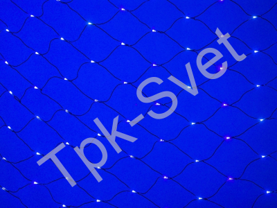 LED Нет-лайт Светодиодная сеть с контроллером, 2х3 м, синий