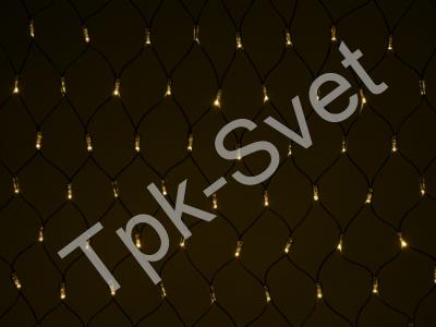 LED Нет-лайт Светодиодная сеть без контроллера, 2х1 м, теплый белый