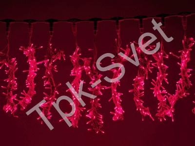 "LED Плей-лайт Световой занавес ""Водопад"" с 3-х канальным контроллером, 2х3 м, красный"