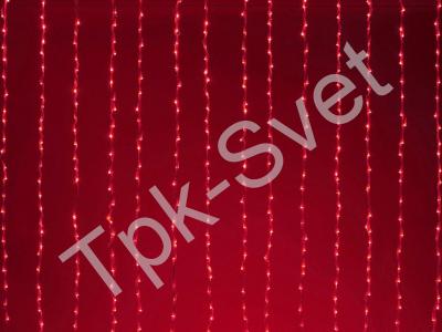 """LED Плей-лайт Световой занавес """"Водопад"""" с 8-и канальным автомат контроллером, 24 В, 2х3 м, красный"""
