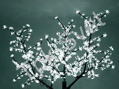 """Светодиодное дерево """"Сакура"""", размер 1.8*1.5 метра, с трансформатором, белый"""
