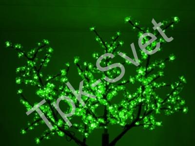 """Светодиодное дерево """"Сакура"""", размер 1.8*1.5 метра, с трансформатором, зеленый"""