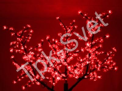 """Светодиодное дерево """"Сакура"""", размер 1.8*1.5 метра, с трансформатором, красный"""