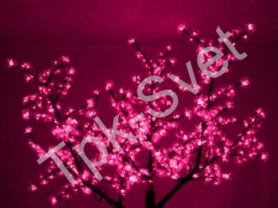 """Светодиодное дерево """"Сакура"""", размер 1.8*1.5 метра, с трансформатором, розовый"""