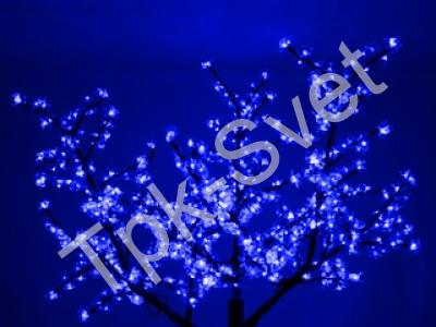 "Светодиодное дерево ""Сакура"", размер 1.8*1.5 метра, с трансформатором, синий"