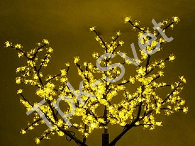 "Светодиодное дерево ""Сакура"", размер 3.6*3 метра, желтый"