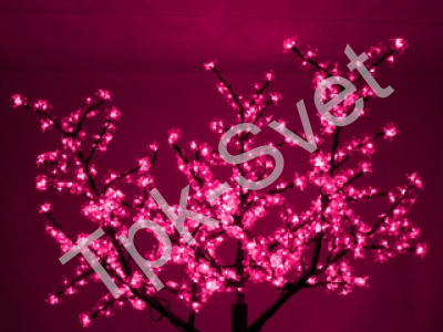 """Светодиодное дерево """"Сакура"""", размер 3.6*3 метра, розовый"""