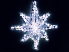 Объемная звезда, белая, 70 х 70 см