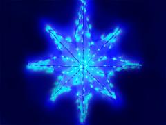 Объемная звезда, синяя, 70 х 70 см
