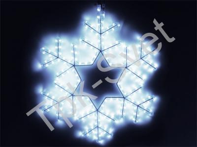 Снежинка LED  57 х 57 см, белая